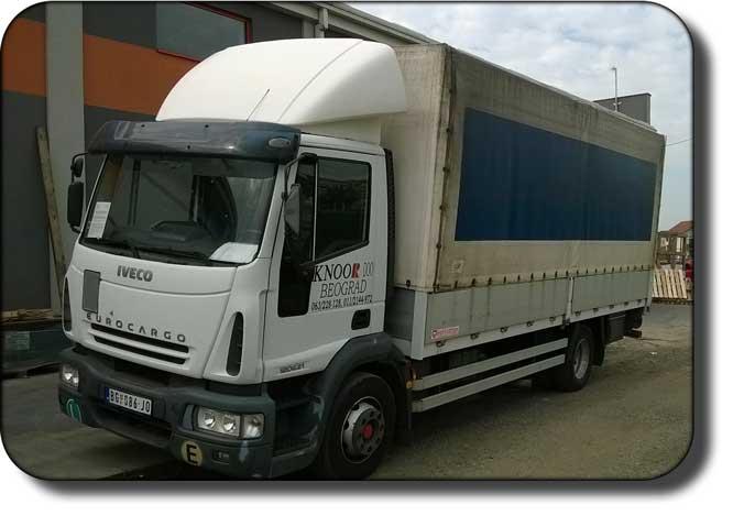 kamionski prevoz Beograd - firma Knoor