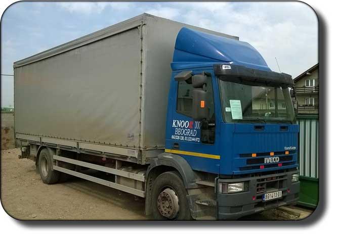 Kamionski prevoz - prevoz robe kamionom nosivosti 10.2t
