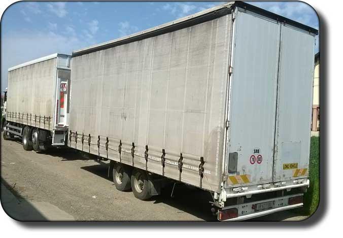 transport robe kamionom sa prikolicom nosivosti 20t